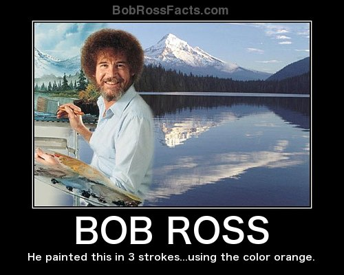 Bob ross facts funny quotes jokes images and video submit your own voltagebd Gallery